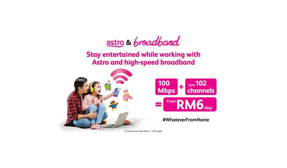 Astro offers Entertainment and Connectivity from only RM6 a day