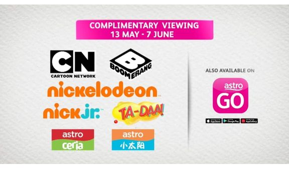 Complimentary Viewing of Kids Channels on Astro