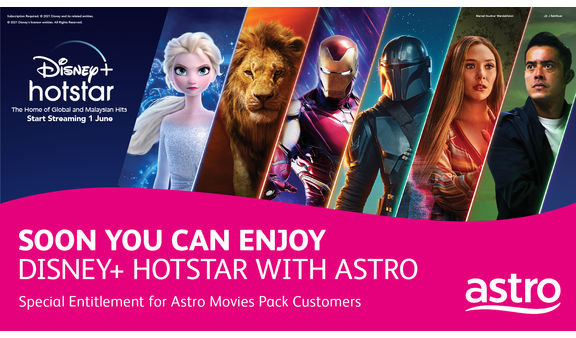 Astro appointed an official distributor of Disney+ Hotstar