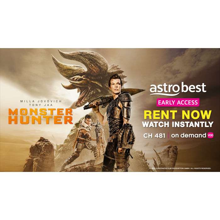 Stream action-fantasy film 'Monster Hunter' on Astro and stand ...