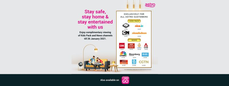 Astro Offers Free Preview of Kids and News* Channels till 26 Jan