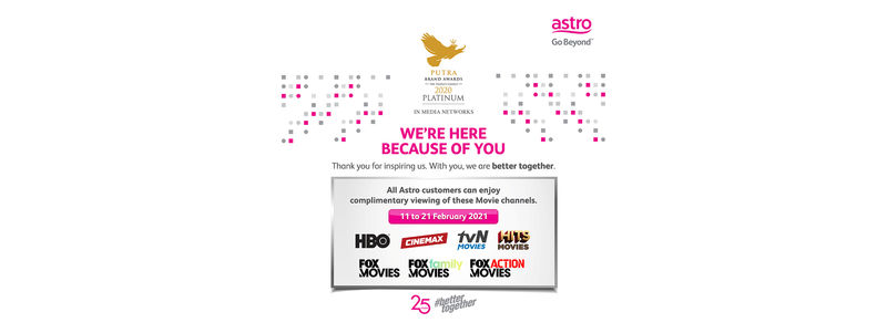 Free Preview of the Biggest Movie Hits for Astro Customers, 11-21 February
