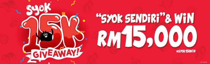 Take home cash prizes with the SYOK 15K Giveaway