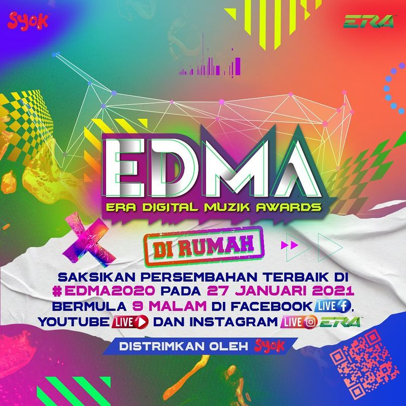 Strim 'ERA Digital Muzik Awards (EDMA) 2020' pada 27 Januari